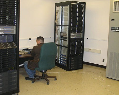 and a researcher working at our parallel computing facility